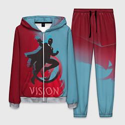 Костюм мужской Vision Duo цвета 3D-меланж — фото 1