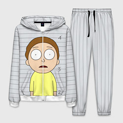 Костюм мужской Morty is in Prison цвета 3D-белый — фото 1