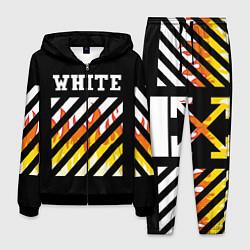 Костюм мужской OFF WHITE FIRE цвета 3D-черный — фото 1