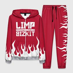 Костюм мужской Limp Bizkit: Red Flame цвета 3D-меланж — фото 1