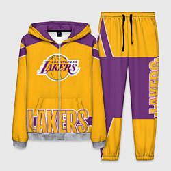 Костюм мужской Los Angeles Lakers цвета 3D-меланж — фото 1