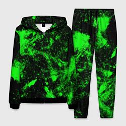Костюм мужской Зелёная краска цвета 3D-черный — фото 1