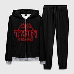 Костюм мужской Twin Peaks цвета 3D-меланж — фото 1