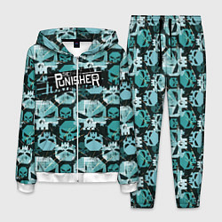 Костюм мужской The Punisher цвета 3D-белый — фото 1