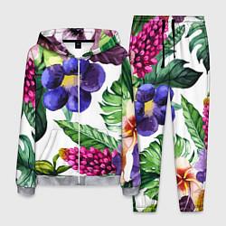 Костюм мужской Цветы цвета 3D-меланж — фото 1