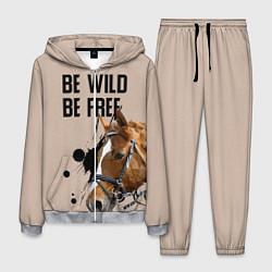 Костюм мужской Be wild be free цвета 3D-меланж — фото 1
