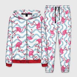 Костюм мужской Фламинго Волны цвета 3D-красный — фото 1