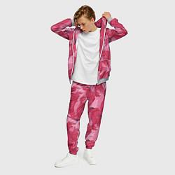 Костюм мужской Розовые фламинго цвета 3D-меланж — фото 2