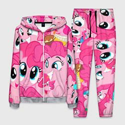 Костюм мужской Pinkie Pie pattern цвета 3D-меланж — фото 1