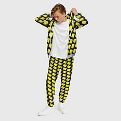 Костюм мужской Барт Симпсон: узор цвета 3D-меланж — фото 2