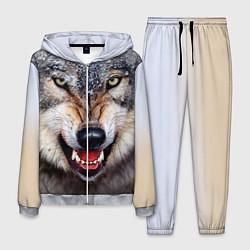 Костюм мужской Взгляд волка цвета 3D-меланж — фото 1