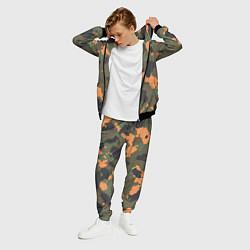 Костюм мужской Камуфляж: хаки/оранжевый цвета 3D-черный — фото 2