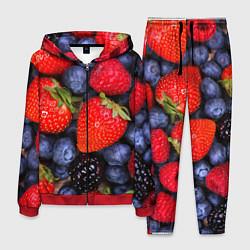 Костюм мужской Berries цвета 3D-красный — фото 1
