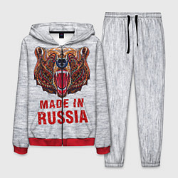 Костюм мужской Bear: Made in Russia цвета 3D-красный — фото 1