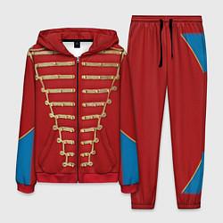 Костюм мужской Пиджак Майкла Джексона цвета 3D-красный — фото 1