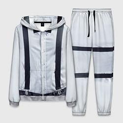 Костюм мужской Рубашка с подтяжками цвета 3D-меланж — фото 1