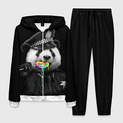 Костюм мужской Панда с карамелью цвета 3D-белый — фото 1