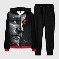 Костюм мужской Взгляд викинга цвета 3D-красный — фото 1