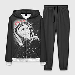 Костюм мужской Гагарин в космосе цвета 3D-белый — фото 1