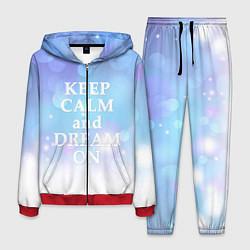 Костюм мужской Keep Calm & Dream цвета 3D-красный — фото 1