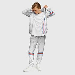 Костюм мужской Сборная Исландии по футболу цвета 3D-белый — фото 2