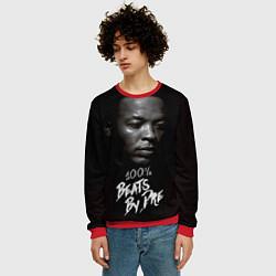 Свитшот мужской Dr. Dre: 100% Beats цвета 3D-красный — фото 2