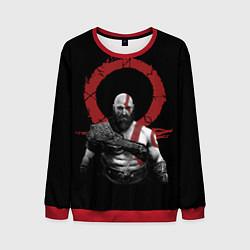 Свитшот мужской God of War IV цвета 3D-красный — фото 1