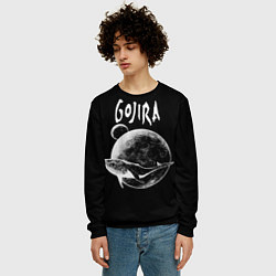 Свитшот мужской Gojira: Space цвета 3D-черный — фото 2