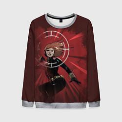 Свитшот мужской Black Widow: Red Style цвета 3D-меланж — фото 1