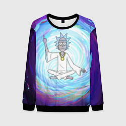 Свитшот мужской Rick in Nirvana цвета 3D-черный — фото 1