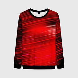 Свитшот мужской Красный свет цвета 3D-черный — фото 1