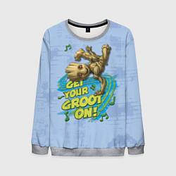 Свитшот мужской Get your Groot on! цвета 3D-меланж — фото 1