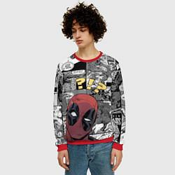 Свитшот мужской Deadpool цвета 3D-красный — фото 2