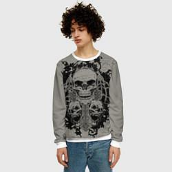 Свитшот мужской Skulls цвета 3D-белый — фото 2