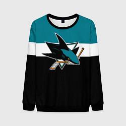 Свитшот мужской San Jose Sharks цвета 3D-черный — фото 1