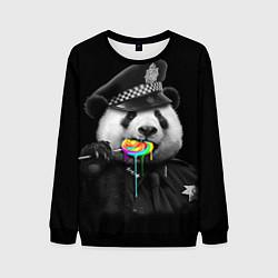 Свитшот мужской Панда с карамелью цвета 3D-черный — фото 1