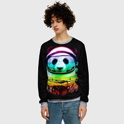 Свитшот мужской Панда космонавт цвета 3D-меланж — фото 2