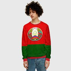 Свитшот мужской Герб Беларуси цвета 3D-красный — фото 2