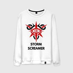 Свитшот хлопковый мужской Dark Elf Mage - Storm Screamer цвета белый — фото 1