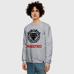 Свитшот хлопковый мужской Dwarf Fighter - Maestro цвета меланж — фото 2