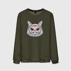 Свитшот хлопковый мужской Owl: Twin Peaks цвета хаки — фото 1