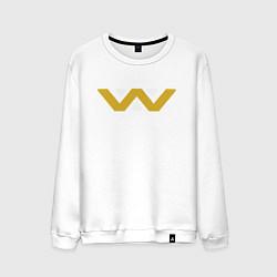 Свитшот хлопковый мужской Weyland-Yutani цвета белый — фото 1