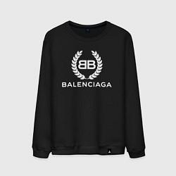 Свитшот хлопковый мужской Balenciaga Fashion цвета черный — фото 1