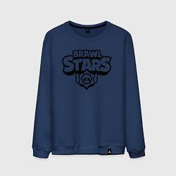 Свитшот хлопковый мужской BRAWL STARS цвета тёмно-синий — фото 1