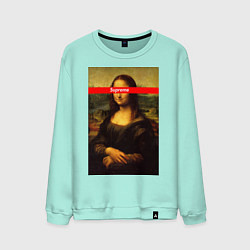 Свитшот хлопковый мужской Supreme Mona цвета мятный — фото 1