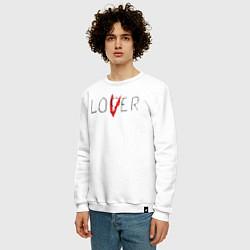 Свитшот хлопковый мужской Lover цвета белый — фото 2