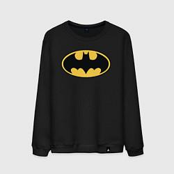 Свитшот хлопковый мужской Batman цвета черный — фото 1