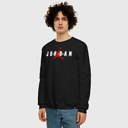 Свитшот хлопковый мужской MICHAEL JORDAN цвета черный — фото 2