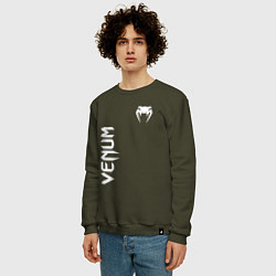 Свитшот хлопковый мужской VENUM цвета хаки — фото 2