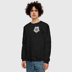 Свитшот хлопковый мужской Supernatural Pentagram цвета черный — фото 2